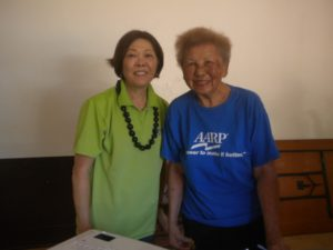 Adele Ching and Gladys Brown.