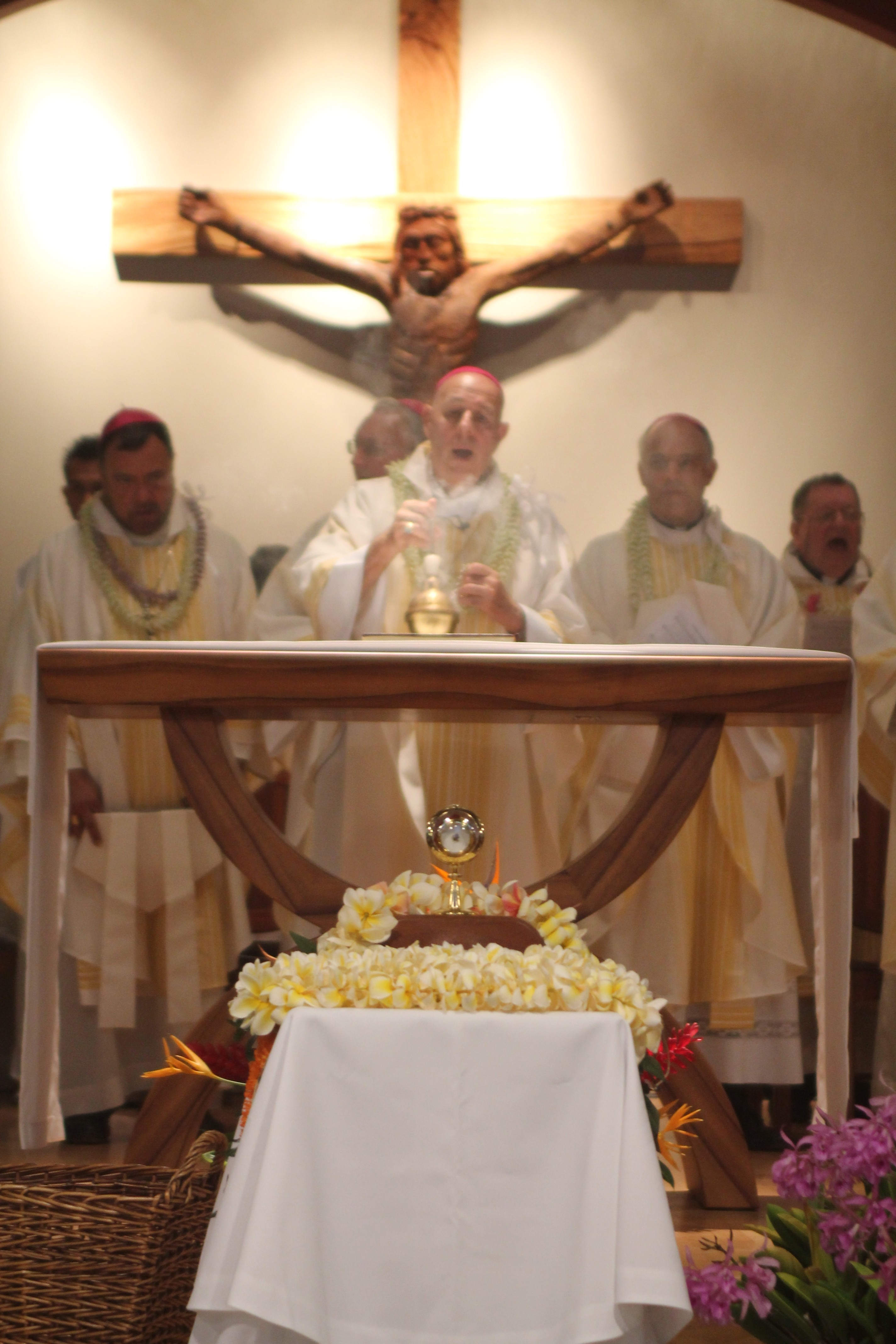 St. Marianne's relic honored at Mass held at St. Damien Church. Photo by Laura Pilz