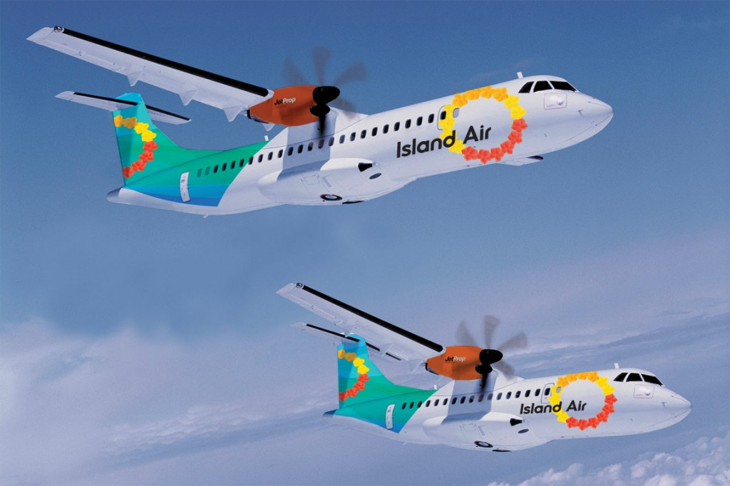 Island Air's new branding and aircraft. Courtesy Island Air