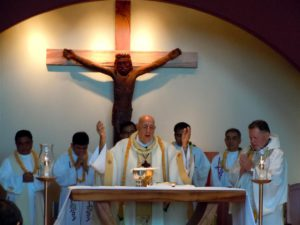 Mass at St. Damien Church. Photo by Catherine Cluett