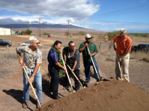 County officials break ground during a ceremony for the new Public Works baseyard last week. Photo y Rick Schonely