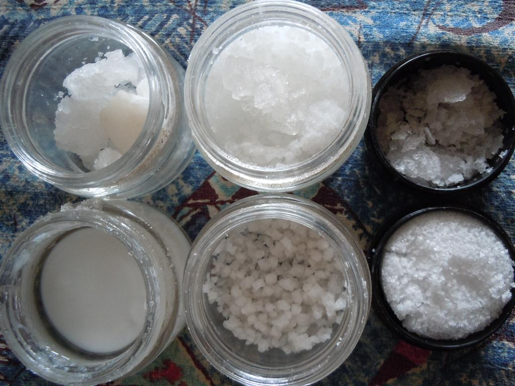The many shapes of sea salt. Photo by Catherine Cluett