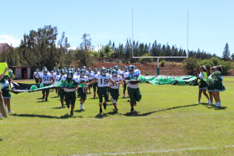 Football Beats Lanai for First in League