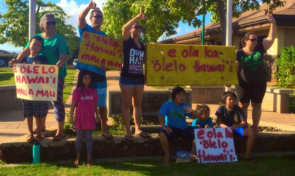 Standing for `Olelo Hawaii