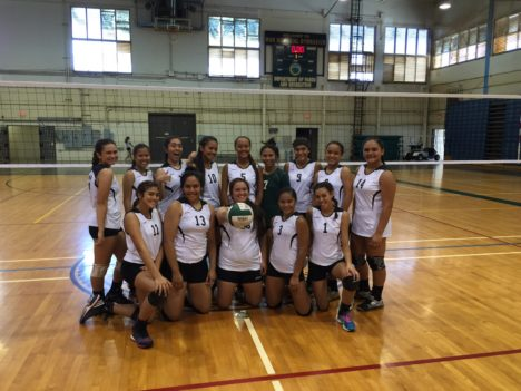 First Wins for Girls Volleyball