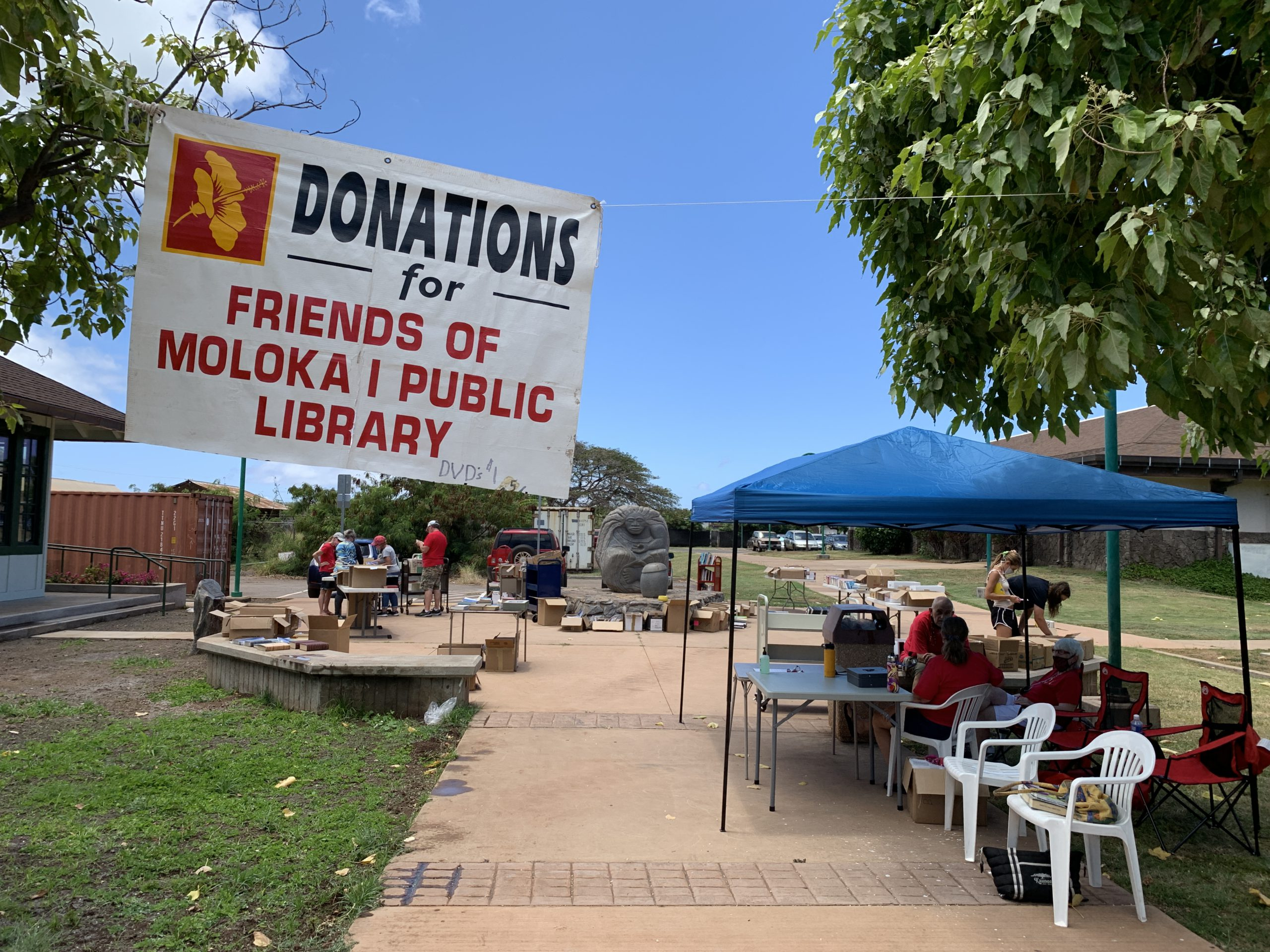 Book Sale Generates Record Support