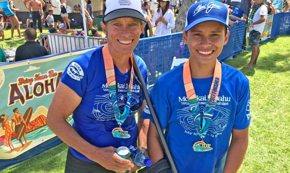 Molokai's Mother-Son Team Places 4th
