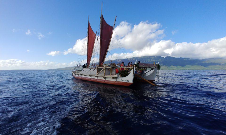 Hundreds Visit the Hokule'a on Molokai