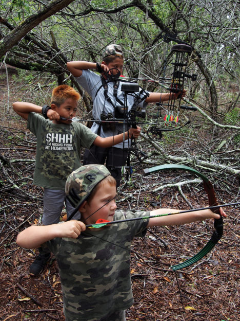 Taking Aim at Molokai Archery Tournament