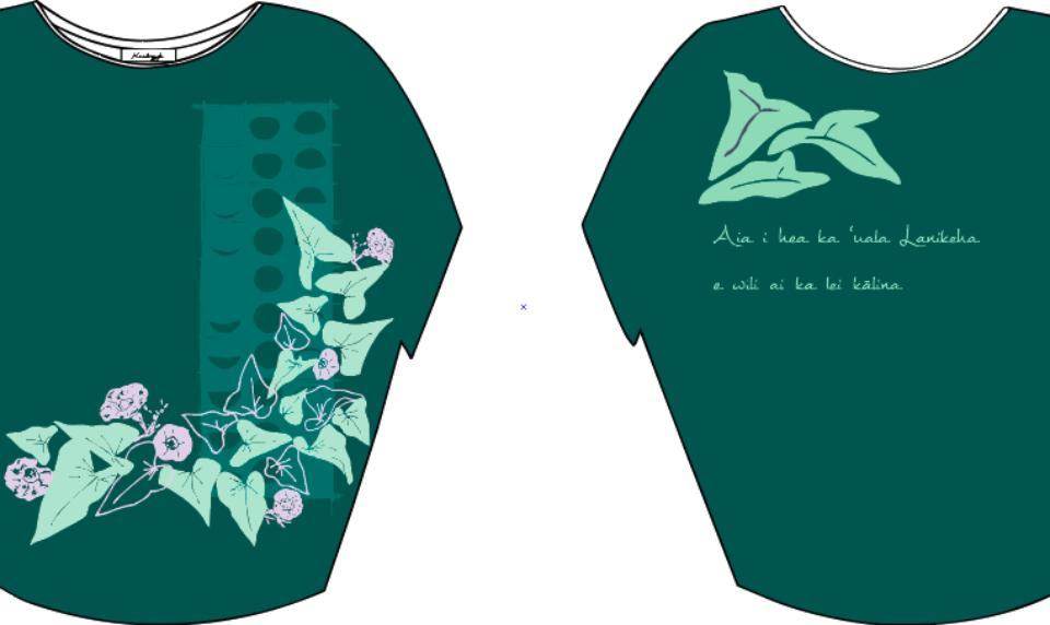 Kealopiko Shirt Supports Kualapu`u Immersion Students