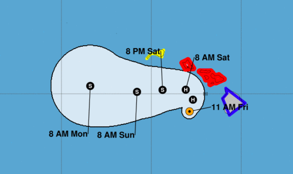 Hurricane Passes Molokai By