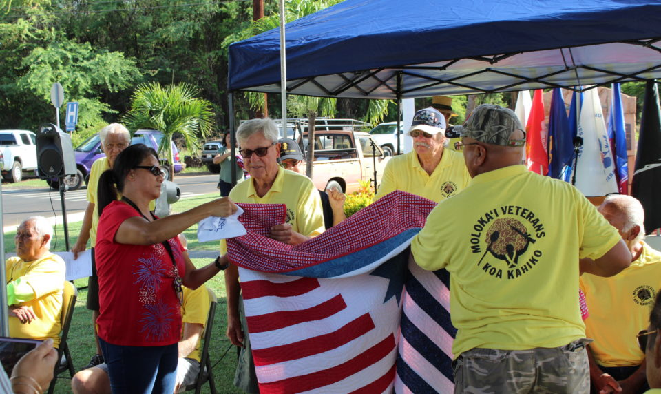 Quilts of Valor Foundation Honors Molokai Veterans