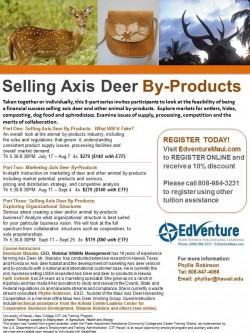 Selling Axis Deer By-Products Courses