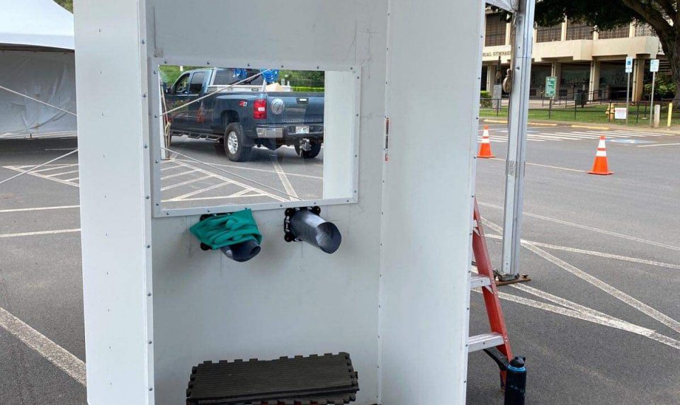 Volunteer Efforts Deliver COVID-19 Testing Booth to Molokai