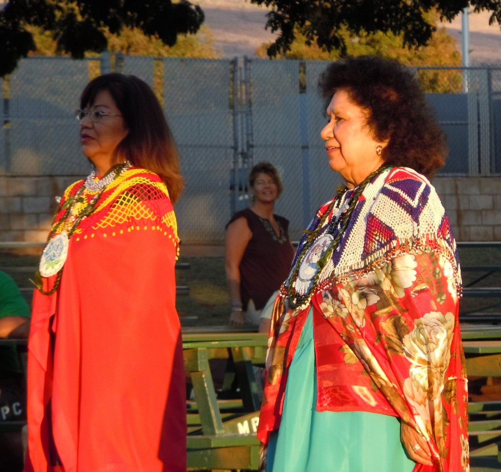 Women of the Quechan tribe share one of their traditional dances. Photo by Catherine Cluett